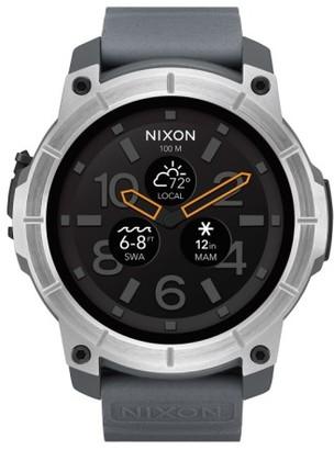 Nixon Mission Ana-Digi Smart Watch, 48Mm $400 thestylecure.com