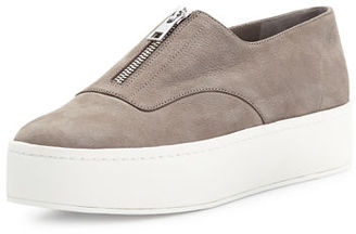 Vince Warner Zip-Front Platform Sneaker $250 thestylecure.com