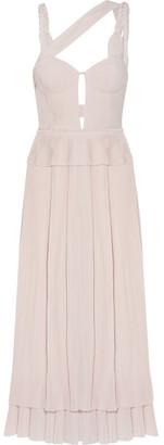 Gabriela Hearst - Victoria Layered Plissé-silk Gown - Blush