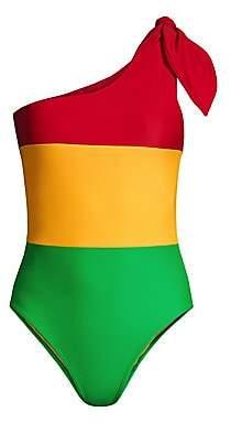 Paper London Women's Barbuda Tri-Color One-Piece Swimsuit