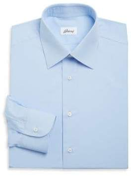 Brioni Regular-Fit Cotton Dress Shirt