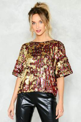Nasty Gal 'Tis the Sequin Tee