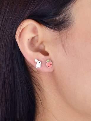 Shein Creative Carrot Rabbit Ear Studs Earrings