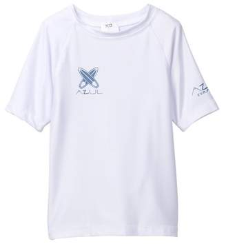 Trunks Azul Short Sleeve Solid Rash Guard (Baby & Toddler Kids)