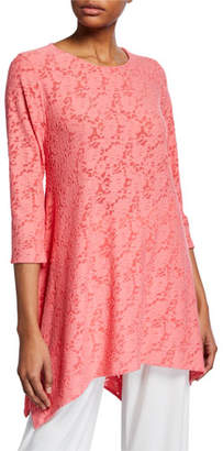 Caroline Rose Rose Garden Knit Swing Tunic, Plus Size