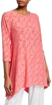 Caroline Rose Plus Size Rose Garden Knit Swing Tunic