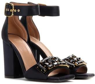 Marni Crystal-embellished satin sandals