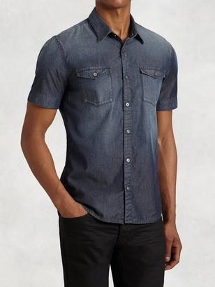 Short Sleeve Indigo Shirt $148 thestylecure.com