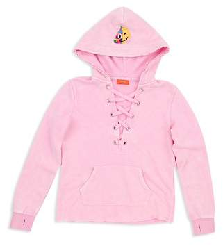 Butter Shoes Girls' Emoji Embellished Hoodie - Big Kid