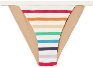 TM Rio - Maraú Striped Bikini Briefs - White