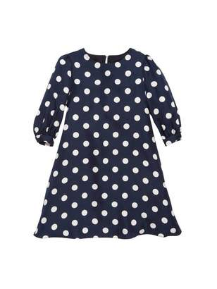 Oscar de la Renta Polka Dot Silk-Twill Dress
