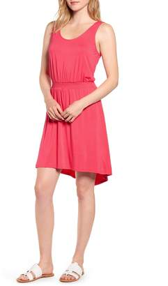 Gibson x The Motherchic Palms Smocked Waist Easy Dress