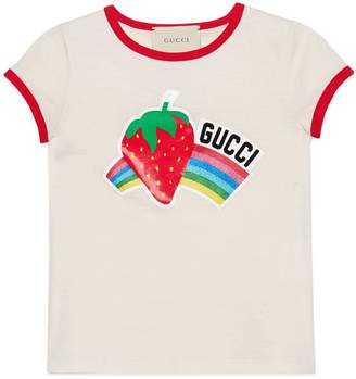 Gucci Children's T-shirt with strawberry print