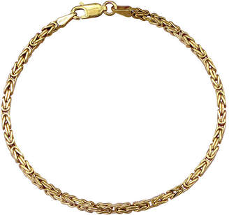 FINE JEWELRY Made in Italy 10K Gold 8 1/2 Inch Hollow Byzantine Chain Bracelet