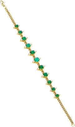 Of A Kind Jemma Wynne One Toujours Curb Link And Emerald Bracelet