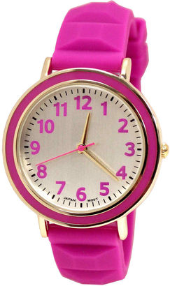 FASHION WATCHES Womens Silicone Pyramid Strap Watch $30 thestylecure.com