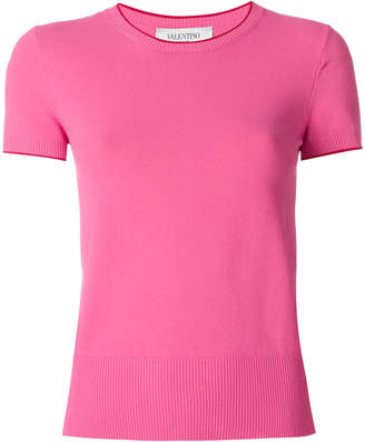 Valentino shortsleeved knitted top