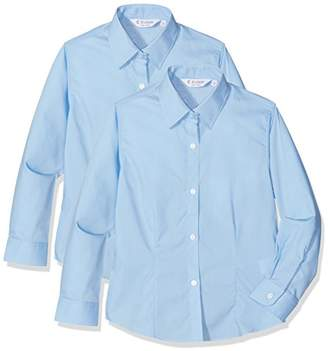 Trutex Girl's Lfb Blouse (Pack of 2),(Manufacturer Size:38)