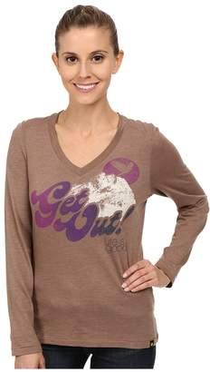 Life is Good Cool Vee Long Sleeve Tee Women's Long Sleeve Pullover