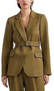 Sies Marjan Women's Terry Wool Belted Blazer - Olive