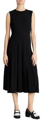 Burberry Aria Pleated Midi Dress