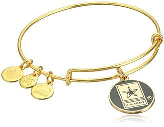 "Alex and Ani Armed Forces"" US Army Expandable Gold Wire Bangle Charm Bracelet"