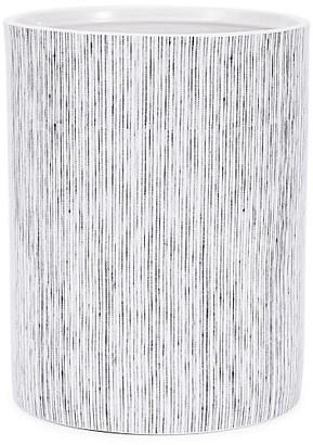 Kassatex Wainscott Wastebasket - White/Gray