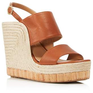 Salvatore Ferragamo Women's Leather Slingback Espadrille Wedge Sandals
