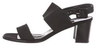 Stuart Weitzman Canvas Ankle Strap Sandals