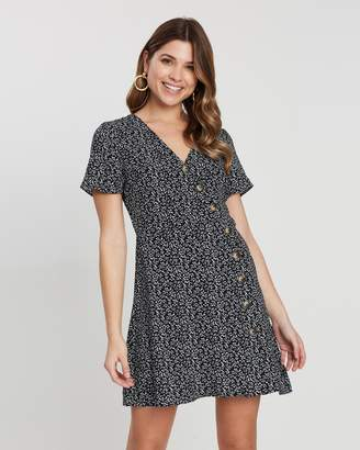 Atmos & Here El Button Front Mini Dress