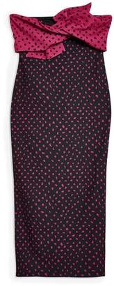 Topshop Bow Twist Midi Dress