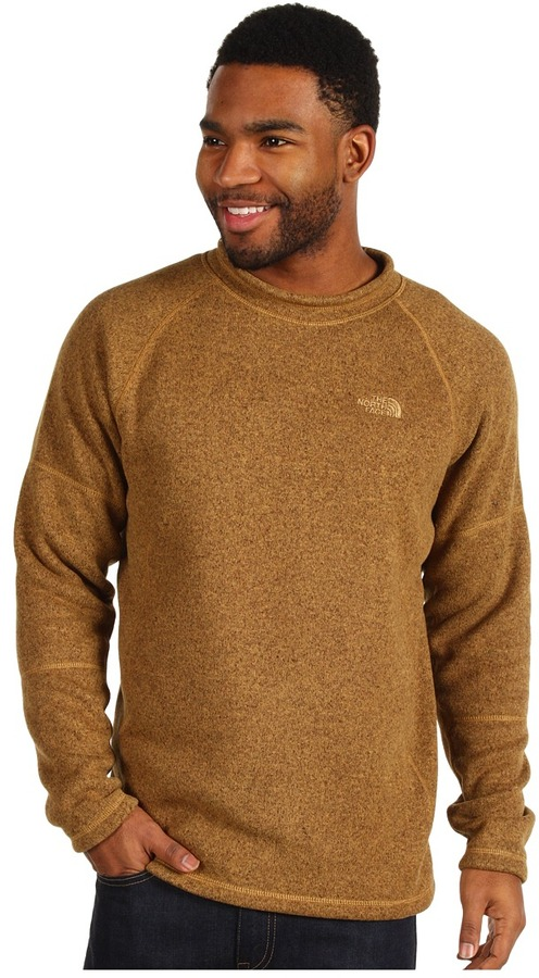 The North Face Gordon Lyons Crew Neck L/S Shirt (Utility Brown Heather) - Apparel