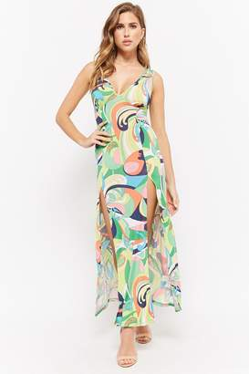 Forever 21 Abstract Sleeveless Maxi Dress