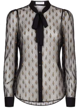 Claudie Pierlot Sheer Embroidered Shirt