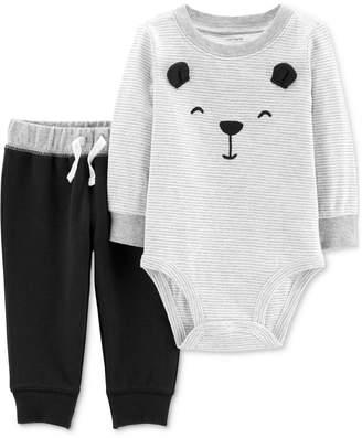 909d2d6ee7 Carter s Carter Baby Boys 2-Pc. Bear Face Cotton Bodysuit   Pants Set