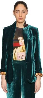 Etro Single Breasted Velvet Blazer