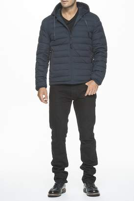 Andrew Marc Corbin Packable Hood Channel Quilted Puffer Jacket