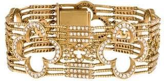 Loree Rodkin 18K Diamond Open Quatrefoil Bracelet
