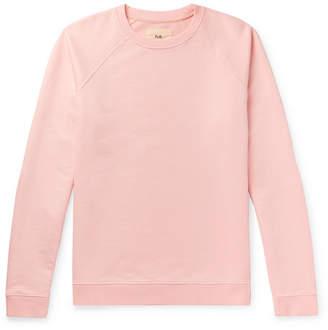 Folk Rivet Loopback Cotton-Jersey Sweatshirt - Men - Pastel pink