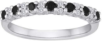 Black Diamond MODERN BRIDE 1/2 CT. T.W. White and Color-Enhanced Wedding Band