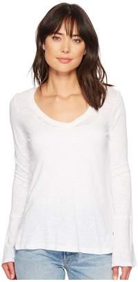 Splendid V-Neck Long Sleeve T-Shirt Women's Clothing