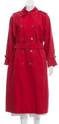 Burberry Vintage Nova Check-Lined Trench Coat Red Vintage Nova Check-Lined Trench Coat