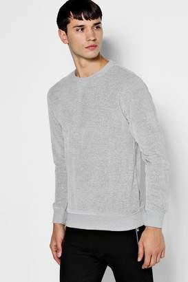 boohoo Crew Neck Velour Sweater