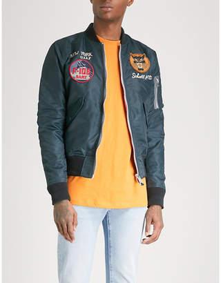 Schott Patch-embellished shell bomber jacket
