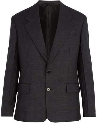 Prada Micro houndstooth wool blazer