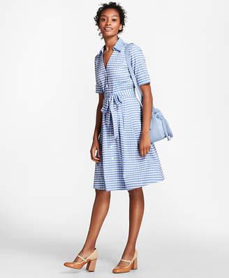 Brooks Brothers Petite Gingham Cotton Shirt Dress