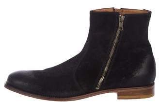 Doucal's Blistered Suede Zip Ankle Boots w/ Tags