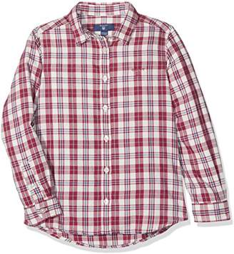 Gant Girl's Check Flannel Shirt Blouse,(Manufacturer Size: 98/104)