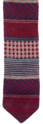 Missoni Wool Knit Patterned Tie