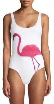 Onia Kelly Flamingo One-Piece Swimsuit